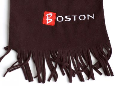 Флисовый шарф с логотипом