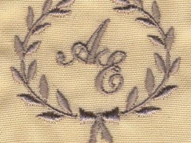 Вышивка монограммы на изделиях заказчика